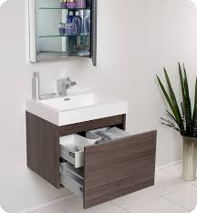 Modern Bathroom Cabinets Fresca Nano Gray Oak Modern Bathroom Vanity