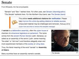 from wikipedia the free encyclopedia senator and sen redirect here