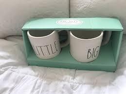 amazon com rae dunn by magenta little big 2 mug set in large