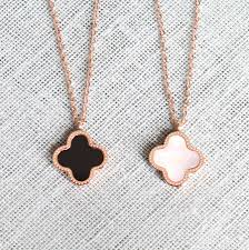 gold clover pendant necklace images Mother of pearl clover necklace choice image jewelry design examples jpg