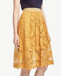 lace skirt lyst floral lace skirt in yellow