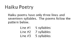 pattern poem definition haiku easy english lessons