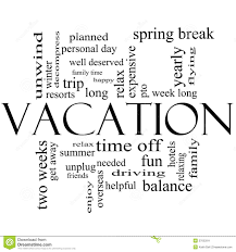 vacation word cloud concept in black and white stock image image