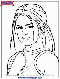selena gomez portrait coloring coloring pages