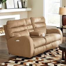 catnapper kelsey power lay flat reclining console loveseat with