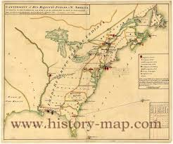 13 Colonies Map Blank by Hargrett Rare Library Map Collection Colonial America Map Us