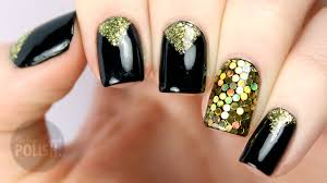 new years eve glitter placement nail art tutorial