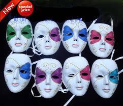 Mardi Gras Halloween Costume White Face Dance Masks Wedding Party Masks Hip Hop Woman