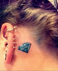 Tattoo Ideas For Behind Ear Best 25 Small Diamond Tattoo Ideas On Pinterest Geometric Heart