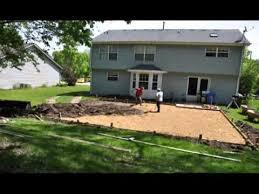backyard basketball court build youtube