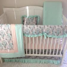 Pink And Green Crib Bedding Pink And Green Baby Blankets Cheerful Aqua Pink And Green Nursery