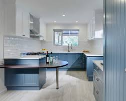 blue and white kitchen houzz