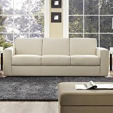 Leather Sleeper Sofas Amazon Com Rananto Off White Left Arm Facing Sleeper Loveseat