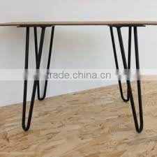 metal furniture parts solid steel 16 inch twin hairpin leg bench
