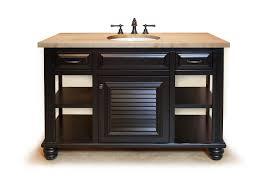 bathroom vanities stone creek furniture butcher block black vanity open with sink