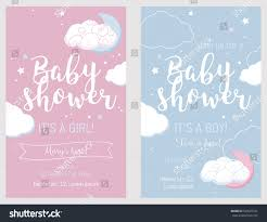 Invitation Cards Party Baby Shower Set Cute Invitation Cards Stock Vector 543072331