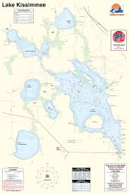 map of kissimmee fishing map lake