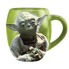 Star Wars Yoda 18 Oz Oval Ceramic Mug Stupid
