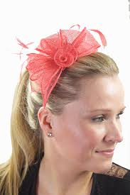 hair fascinator coral sinamay feather hairband fascinator coral hair fascinators