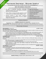 software engineer resume software engineer resume exle writing tips resume genius
