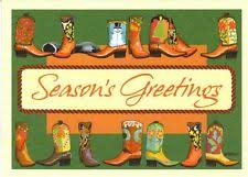cowboy christmas cards ebay