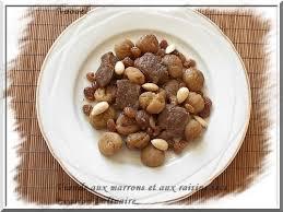 cuisiner les marrons frais viande aux marrons et aux raisins secs recette algéroise