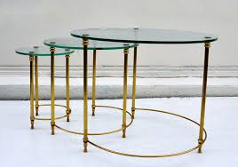 vintage glass top nesting tables mecox gardens