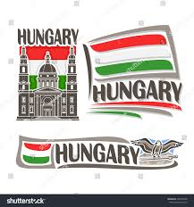 vector logo hungary consisting 3 isolated stock vector 406739668