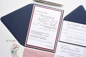 navy wedding invitations megan handwritten wedding invitation all that glitters invitations