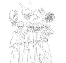ichigo naruto natsu goku sketch by terryboi2 on deviantart