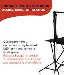 portable hair and makeup stations all black aluminum studio rolling makeup station w light