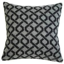 black patterned cushions aran knitted cushion foot palm tree plants