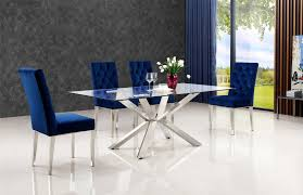 Blue Dining Set by Juno Table 732 Meridian Furniture Casual Dining Sets At Comfyco