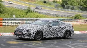 lexus is coupe 2015 lexus rc f is f coupe spied on the nurburgring