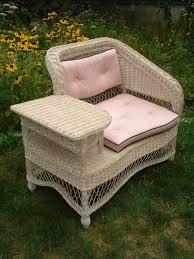 Ebay Wicker Patio Furniture Vintage Wicker 1950 U0027s Telephone Bench Table Henry Link Art Deco