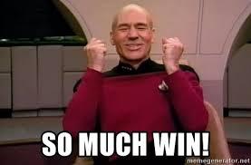 Jean Luc Picard Meme - so much win jean luc picard happy meme generator