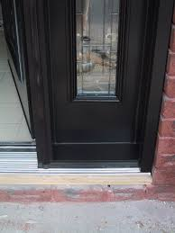 Sealing Exterior Doors Glamorous Front Door Threshold Color Contemporary Exterior Ideas