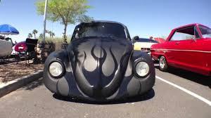 black volkswagen beetle 1965 volkswagen beetle custom matte black with gloss black flames