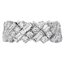 cartier diamond ring creative collection wedding band in white gold and diamonds