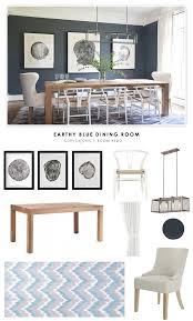 blue dining rooms copy cat chic room redo earthy blue dining room copycatchic