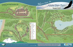 Alaska State Map by Johnson Lake State Recreation Area Amenities Rv Parks In