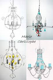 Making Chandeliers 53 Best Wire Chandeliers Images On Pinterest Lighting Ideas