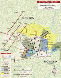 Map Of United States During Civil War by Jackson U0027s Flank Attack May 2 1863 Civil War Trust