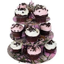 cupcake and cake stand pink camo cup cake stand