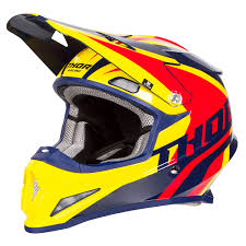 thor motocross helmet thor helmet sector ricochet navy yellow 2018 maciag offroad