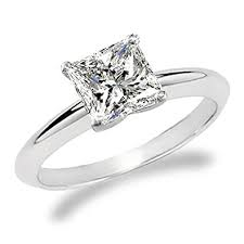 cut engagement ring 3 4 carat princess cut solitaire engagement ring 14k white