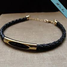 leather black bracelet images Royal leather black bracelet for men gold mens wristband jpg