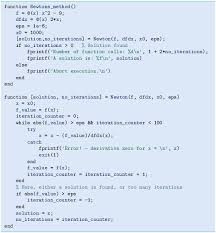 handling of the potential division by zero is done by a try catch construction which works as follows first matlab tries to execute the code in the try