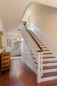 Painted Stairs Design Ideas Stair Awesome Half Landing Stair Design With Maple Wood Treads And