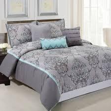 gray bedroom sets gray comforter sets king bed grey bedding steel factor 9 black 7 pc